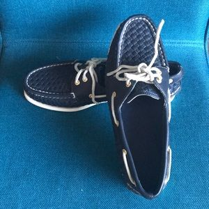 Sperry Top-Sider Dark Navy Blue Woven Boat Shoes